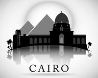 Modern design för Kairostadshorisont egypt vektor illustrationer