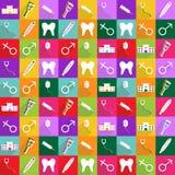 Modern design för rengöringsduksymboler för mobil läkarundersökning för skuggasymbolsuppsättning Royaltyfria Foton
