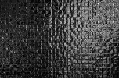 Modern design för svart för mosaiktegelplattor för modell bakgrund för textur royaltyfri bild