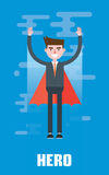 Modern design flat character hero vector illustration Royalty Free Stock Image