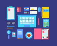 Modern design flat icon vector collection concept Royalty Free Stock Images