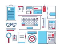 Modern design flat icon vector collection concept Royalty Free Stock Image