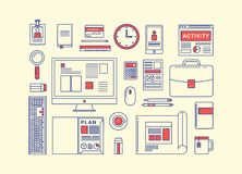Modern design flat icon vector collection concept Stock Images
