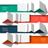 Modern design info graphic template origami styled Royalty Free Stock Photos