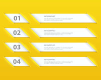 Modern Design infographic options template Stock Photos