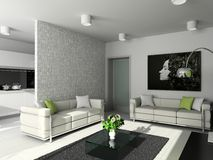 Modern design of interior royalty free stock photos