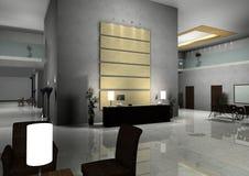 Modern design interior of hall,corridor. 3d rendered Stock Photo