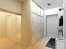 Modern design interior of hall,corridor Royalty Free Stock Photo