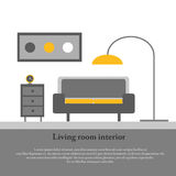 Modern design interior of the living room Royalty Free Stock Image