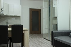 Modern design  interior of the small apartment Royalty Free Stock Photo