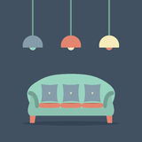 Modern Design Interior Sofa Royalty Free Stock Images