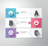 Modern Design jigsaw style infographic template ve. Modern Design jigsaw style infographic template Royalty Free Stock Photo