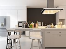 Modern Design Kitchen | Interior Architecture Royalty Free Stock Photos