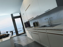 Modern design kitchen interior Royalty Free Stock Photography