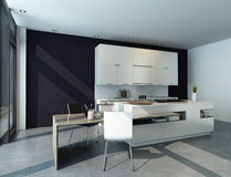 Modern design kitchen interior Stock Images