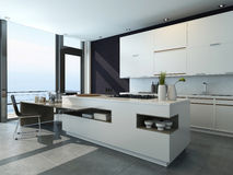 Modern design kitchen interior Stock Image
