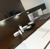 Modern design kitchen interior. Picture of Modern design kitchen interior Royalty Free Stock Image