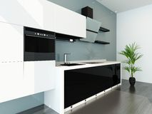 Modern design kitchen interior. Picture of Modern design kitchen interior Stock Image