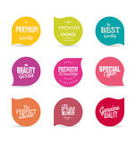 Modern design labels collection. Modern design labels isolated on background Stock Image