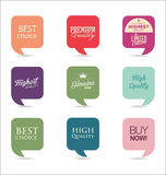 Modern design labels collection. Modern design labels isolated on background Stock Photography