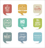 Modern design labels collection. Modern design labels isolated on background Royalty Free Stock Photography