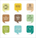 Modern design labels collection. Modern design labels isolated on background Royalty Free Stock Photos
