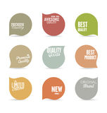 Modern design labels collection. Modern design labels isolated on background Stock Images