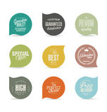 Modern design labels collection. Modern design labels isolated on background Stock Photo
