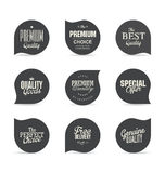 Modern design labels collection. Modern design labels isolated on background Stock Photos