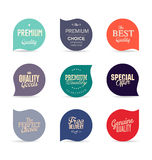 Modern design labels collection. Modern design labels isolated on white background Stock Photo