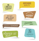 Modern design labels collection. Modern design labels isolated on white background Royalty Free Stock Photography