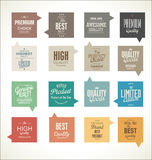 Modern design labels collection. Modern design labels isolated on white background Stock Photos