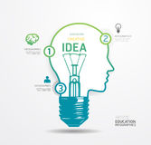 Modern Design light dot Minimal style infographic template / can Royalty Free Stock Photos