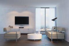 Modern design of living room Royalty Free Stock Photos