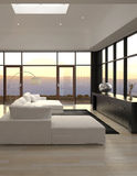 Modern Design Loft Living Room | Architecture. A 3d rendering of Modern Design Loft Living Room | Architecture Stock Image