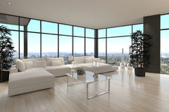 Modern Design Loft Living Room | Architecture Royalty Free Stock Image