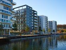 Modern design luxurious apartments condominium. Modern design luxurious executive apartments city condominium building stock image