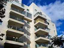 Modern design luxurious apartments condominium. Modern design luxurious executive apartments city condominium building royalty free stock photography