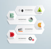 Modern Design Minimal Style Infographic Template Stock Image