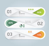 Modern Design Minimal style infographic template with alphabet Royalty Free Stock Photo