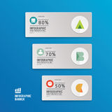 Modern Design Minimal style infographic template with alphabet Royalty Free Stock Photography