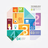 Modern Design Minimal style infographic template. Royalty Free Stock Photography