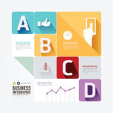 Modern Design Minimal style infographic template. Stock Image