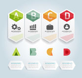 Modern Design Minimal style infographic template Stock Photography
