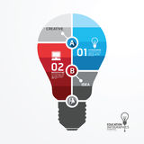 Modern Design Minimal style infographic template with light bulb Stock Image