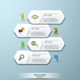 Modern Design Minimal style infographic template with numbers Stock Image