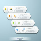Modern Design Minimal style infographic template with numbers Stock Images