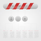 Modern Design Minimal style infographic template with pill. With ribbons pill Royalty Free Stock Photography
