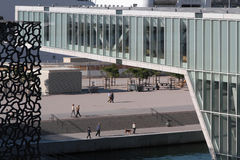 Modern design of Mucem and Villa Mediterranee Royalty Free Stock Image