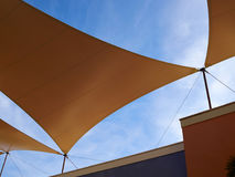 Modern design pergola arbor made with cloth fabric Royalty Free Stock Image